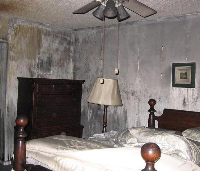 Smoke Damaged Bedroom